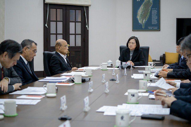 蔡英文總統召開國安高層會議。 圖/總統府提供