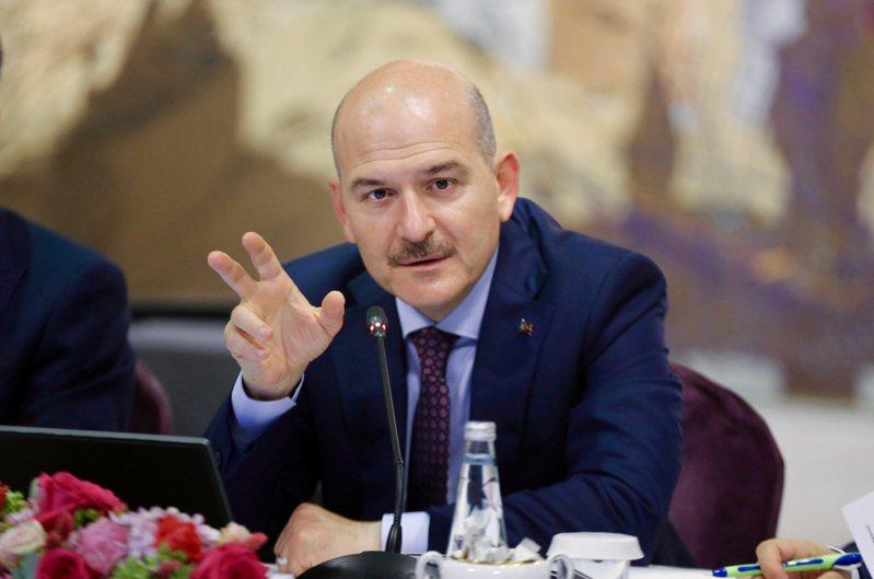 土耳其內政部長索魯(Suleyman Soylu)。 路透