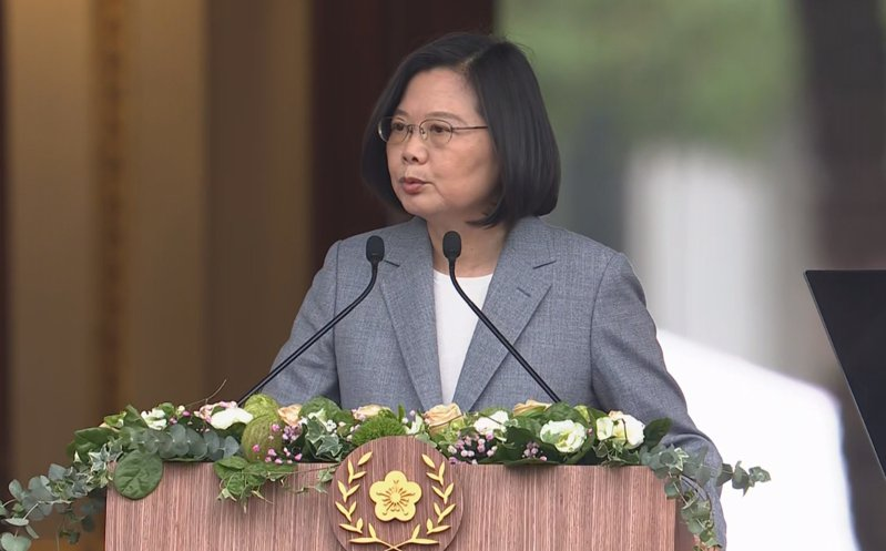 圖為今年5月20日總統、副總統就職典禮,蔡英文總統在台北賓館發表就職演說。圖/總統府提供