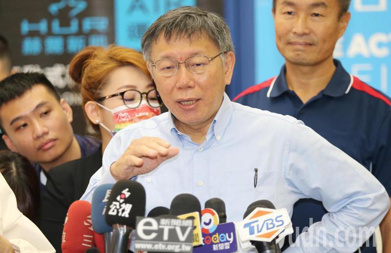 台北市長柯文哲。聯合報系資料照/記者曾學仁攝影