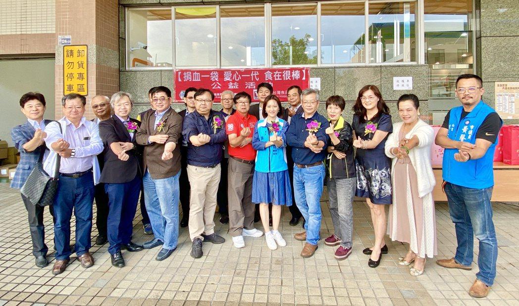 中華民國食品流通公會全聯會暨台灣食品發展協會發起「捐血一袋.愛心一代.食在很棒」...