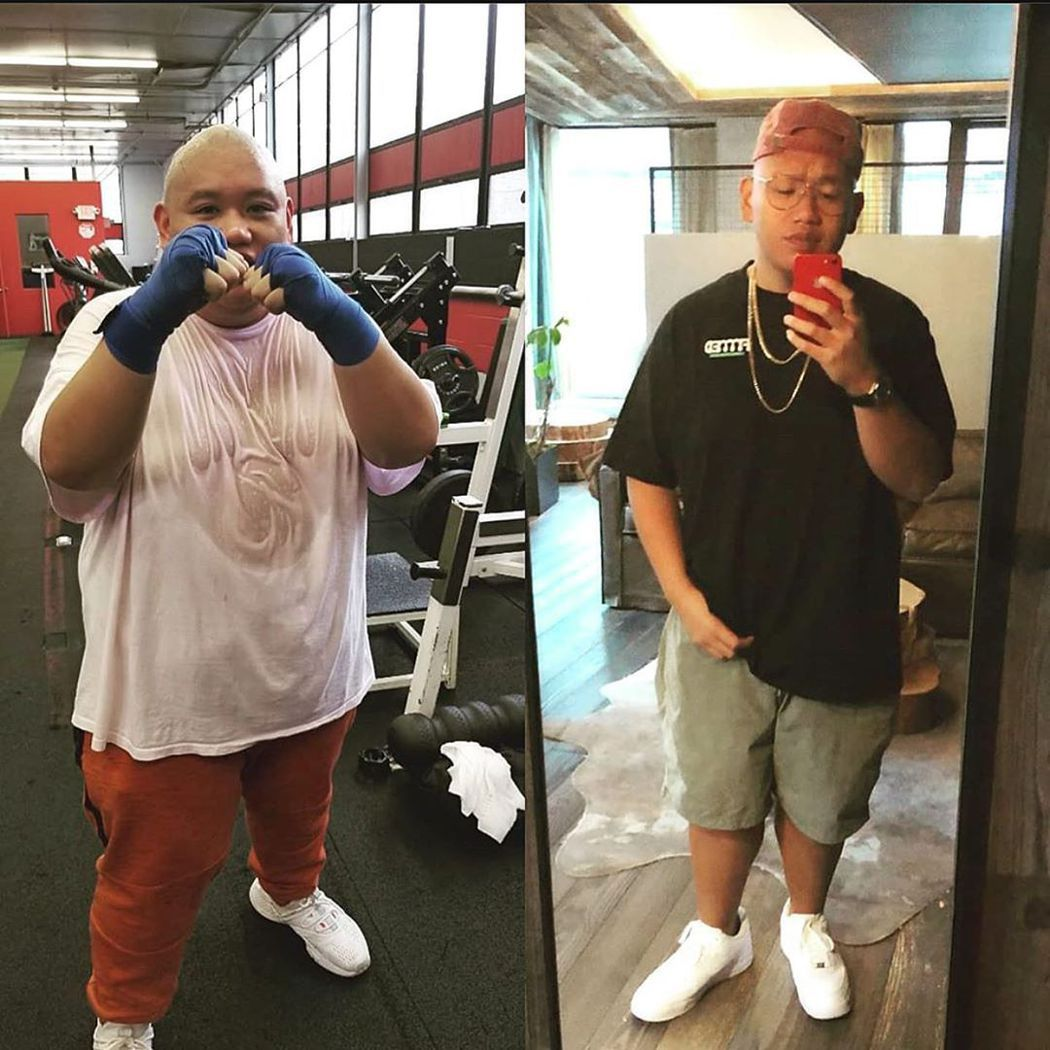 運動鍛練也是雅各貝塔隆減重成功的一大因素。圖/摘自Instagram