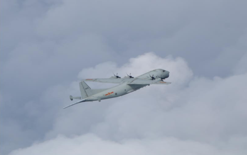 共軍運8機。圖/國防部提供
