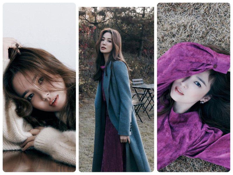 宋慧喬IG這兩天都是她身穿韓國品牌MICHAA秋冬裝的美麗身影。圖/取自IG