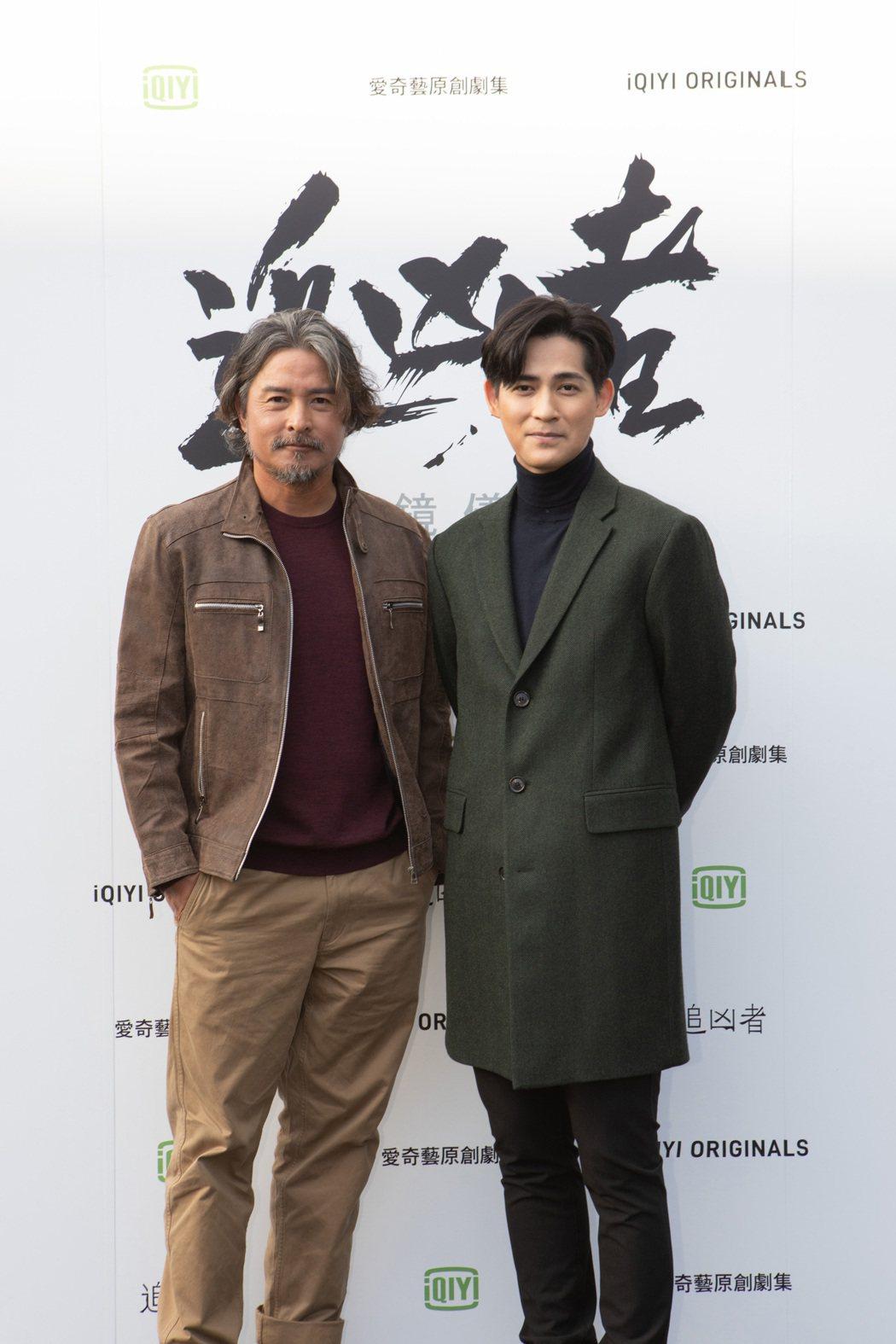 周渝民(右)、李銘順兩位金鐘視帝合作演出「追凶者」。圖/愛奇藝海外站提供