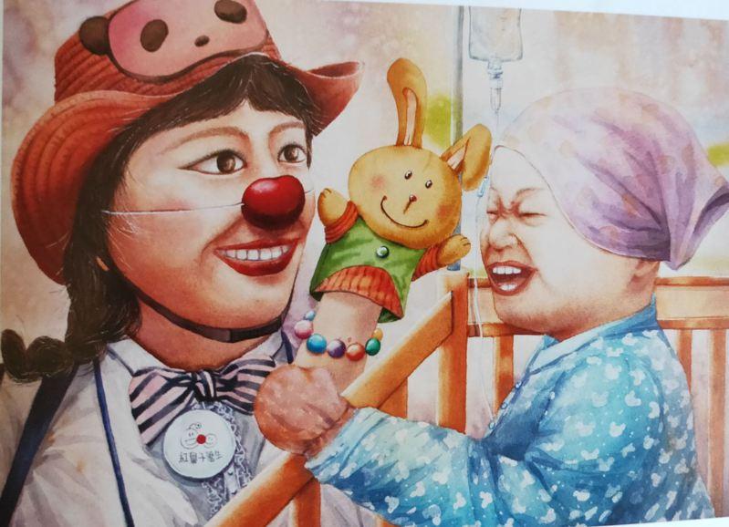 中華民國微笑協會總會舉辦微笑臉譜全國繪畫比賽,各組第一名作品各具特色。圖/苗栗縣政府提供
