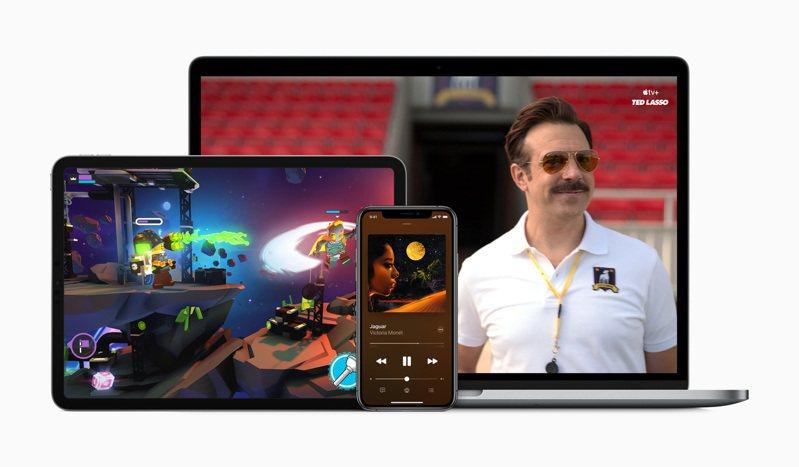 消費者可透過Apple One方案,一次享受包括Apple Music、Apple TV+、Apple Arcade、iCloud訂閱服務。圖/蘋果提供