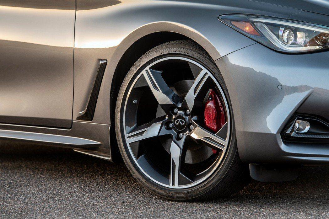 Red Sport版本煞車也比一般版來的優異。 圖/Infiniti提供