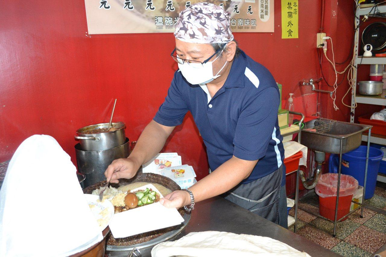 禧樂米糕已經營60多年,受到老饕的喜愛。 圖/鄭惠仁 攝影
