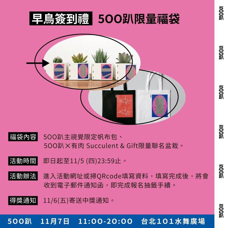 進入活動網址,登入或註冊聯合報會員,就有機會獲得500趴福袋。
