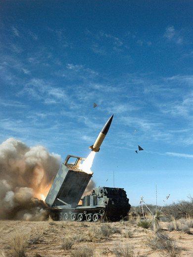 圖為陸軍戰術飛彈(ATACMS)。 圖/維基共享