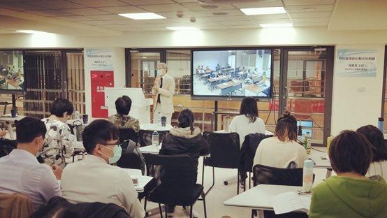 長庚科技大學校長樓迎統於研討會發表致詞。 醫博科技/提供