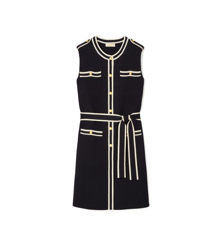 滾邊設計洋裝,21,900元。圖/Tory Burch提供