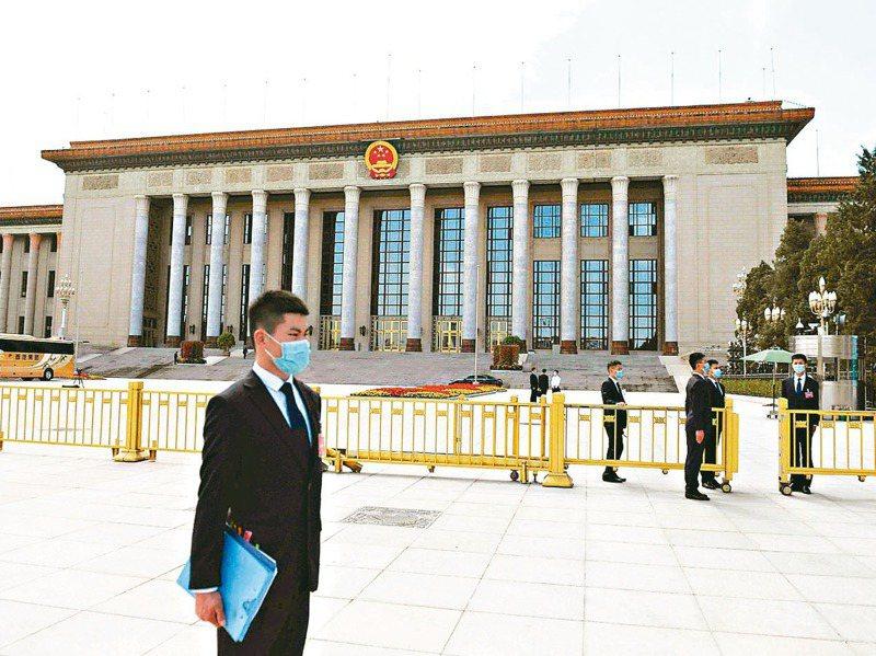 中共十九屆五中全會審議通過十四五規劃,擘畫大陸未來經濟社會發展路線圖。圖為北京人民大會堂。 圖/聯合報系資料照片