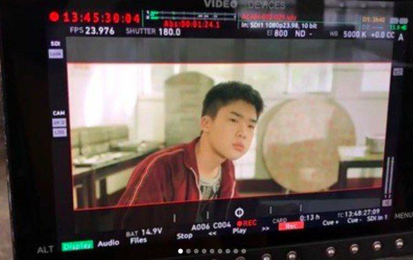 王士豪曾分享「無聲」的拍片花絮。圖/摘自IG