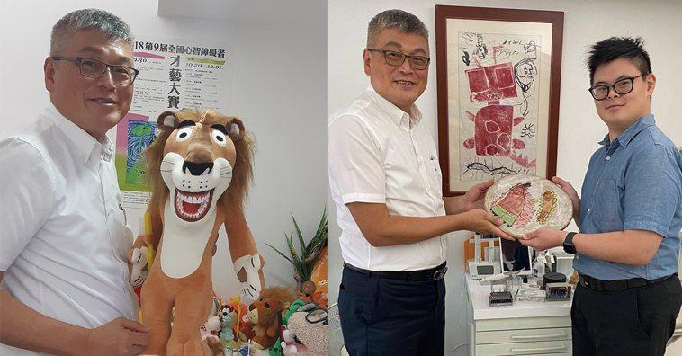 (左圖)黃明裕:「很多人說我是俠客,其實我只是一個比較雞婆的獅子座,路見不平而已...