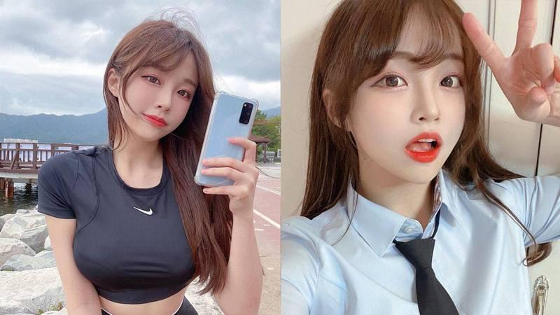 韓國網紅Coco以仙氣見稱,加上甜美樣子就被封為「行走發電機」。(IG「coco20002」圖片)