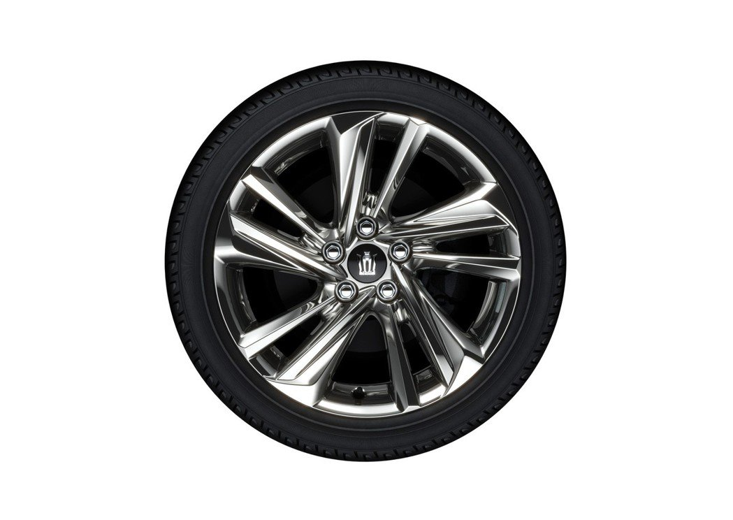 18吋雙肋五輻式運動型樣式鋁圈。 圖/Toyota.jp提供