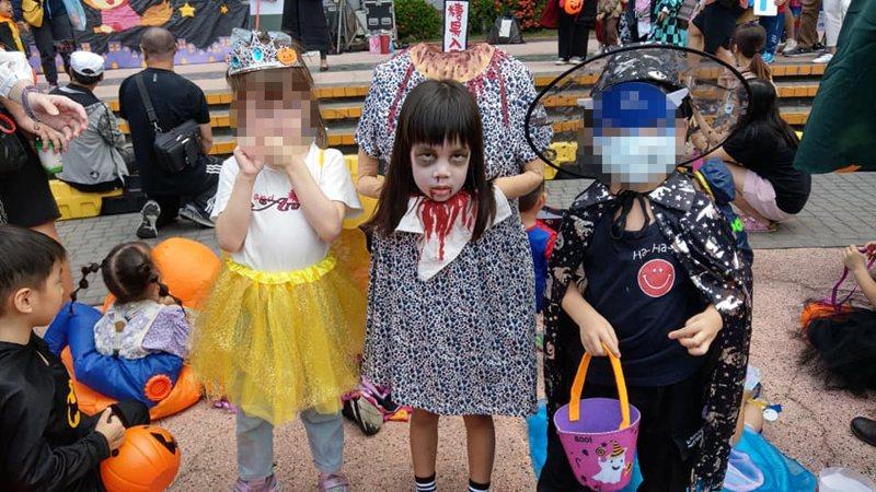 一位台灣小女童萬聖節時的斷頭鬼造型,逼真到讓外國網站也分享。圖/小桃爸授權
