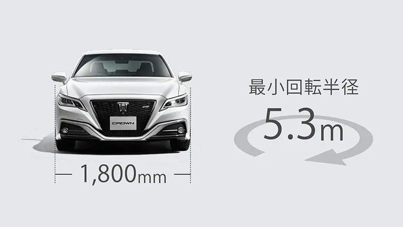 為了配合日本市場Toyota Crown車寬僅有1800mm。 圖/Toyota...