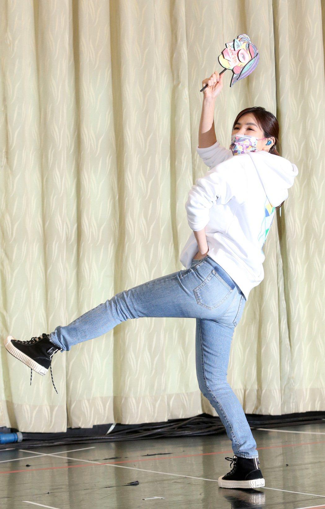 Ella陳嘉樺正式宣告將舉辦個人生涯第一場巡演,並於今天進行彩排。記者胡經周/攝...