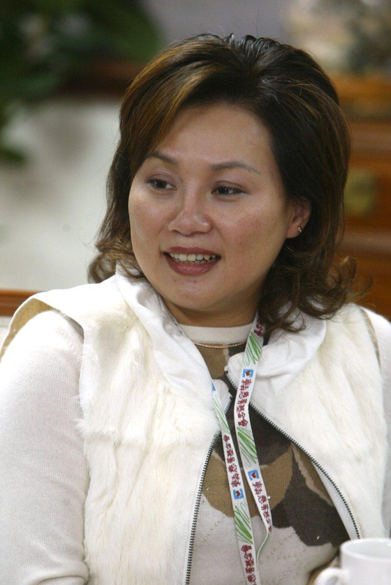 王令麟的妻子蔡咪咪。圖/聯合報系資料照