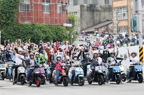 超過200位車友相挺!台南「2020驚市騎蹟」電車遊行,宏佳騰氣勢最旺