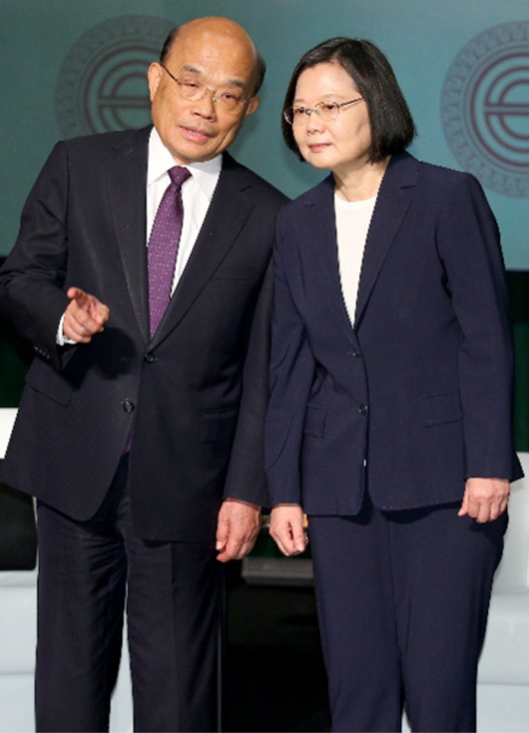 蘇貞昌今笑說與蔡英文總統無話不談。本報資料照片