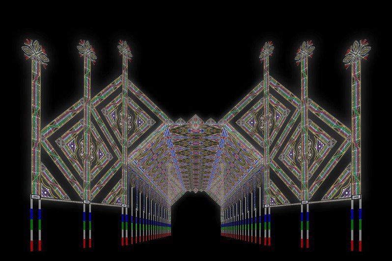 明年燈會將邀來義大利藝術家Daniel Monteverde設計東大路迎賓門。圖/新竹市政府提供