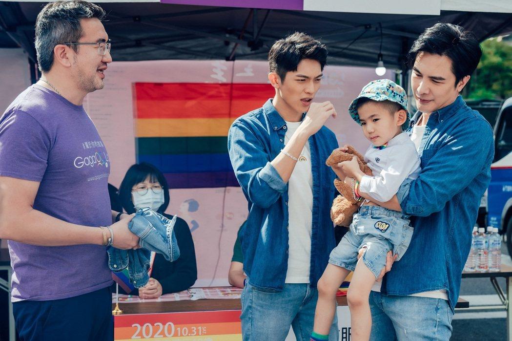 謝佳見(右)、林輝瑝劇中把兒子搞丟。圖/ GagaOOLala提供