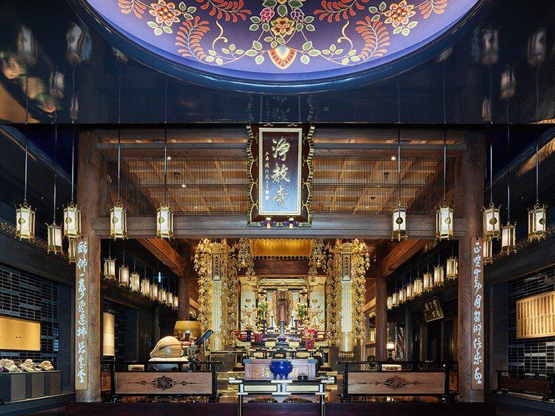 京都淨教寺改建後的本堂設在大樓的一樓,二樓以上是飯店房間。圖/取自三井花園飯店京都河原町淨教寺