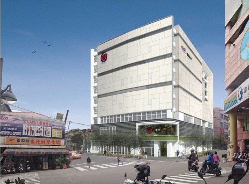 中華郵政彰化光復郵局近日即將拆除,並與國賓影城簽約,以4.04億元興建地下3樓、地上6樓商業大樓。圖/中華郵政公司提領