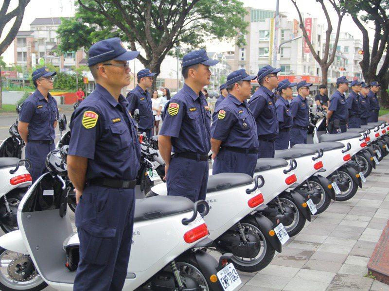 警用電動機車雖然有環保、低噪音等優點,但對基層警方仍有一大罩門待克服。圖/聯合報系資料照片