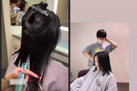 「拉拉」徐佳瑩2018年與MV名導比爾賈結婚,並在今年宣佈懷孕喜訊,預產期就在12月的她,昨(3)日透過IG限動曝光自己把握時間修剪頭髮的模樣,一頭長髮減去至少十幾公分,成果曝光約及肩長度,笑著寫下...
