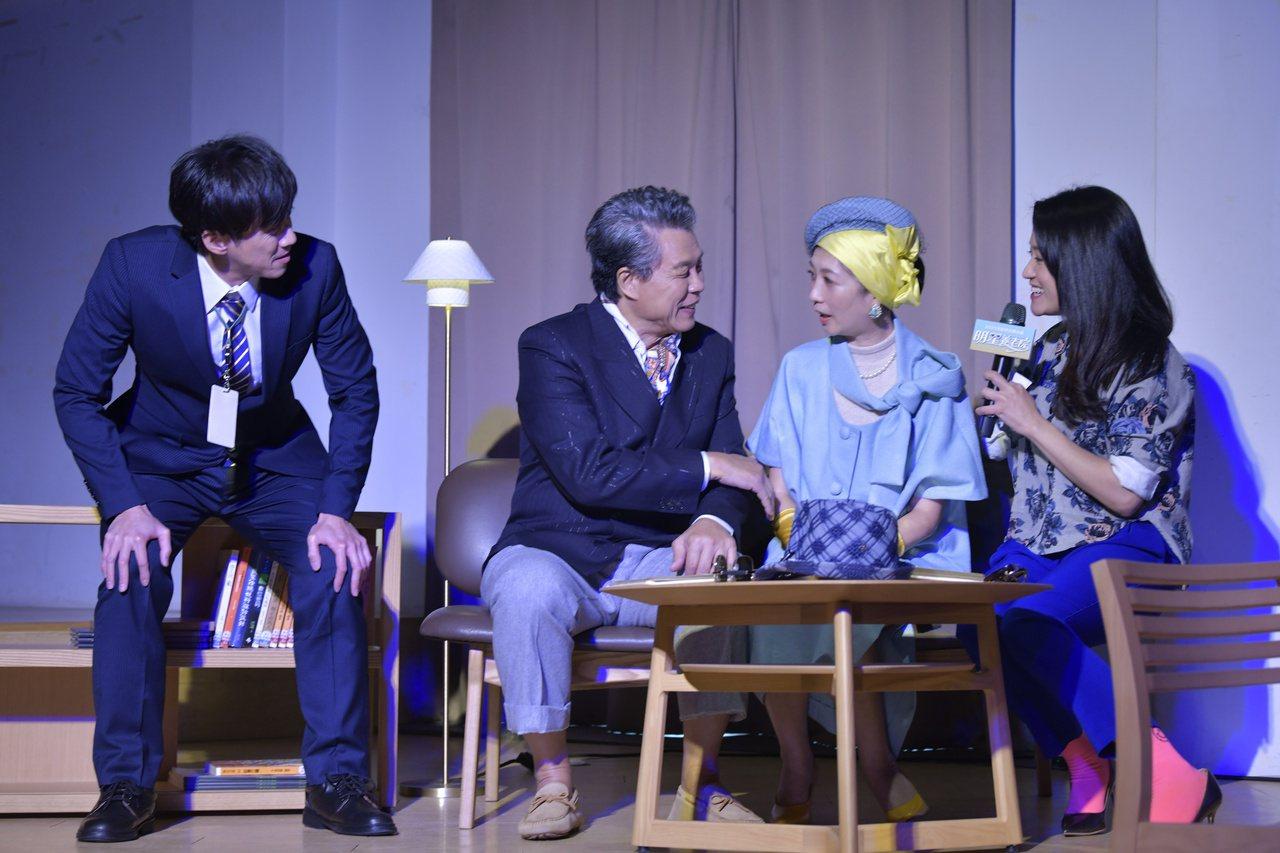 楊烈最進為12月初將在高雄演出的舞台劇《明星養老院》排演準備中。 圖/金星文創 ...