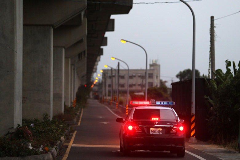 長榮馬來西亞籍女大生命案發生後,警方於該路段進行巡邏任務。 圖/聯合報系資料照