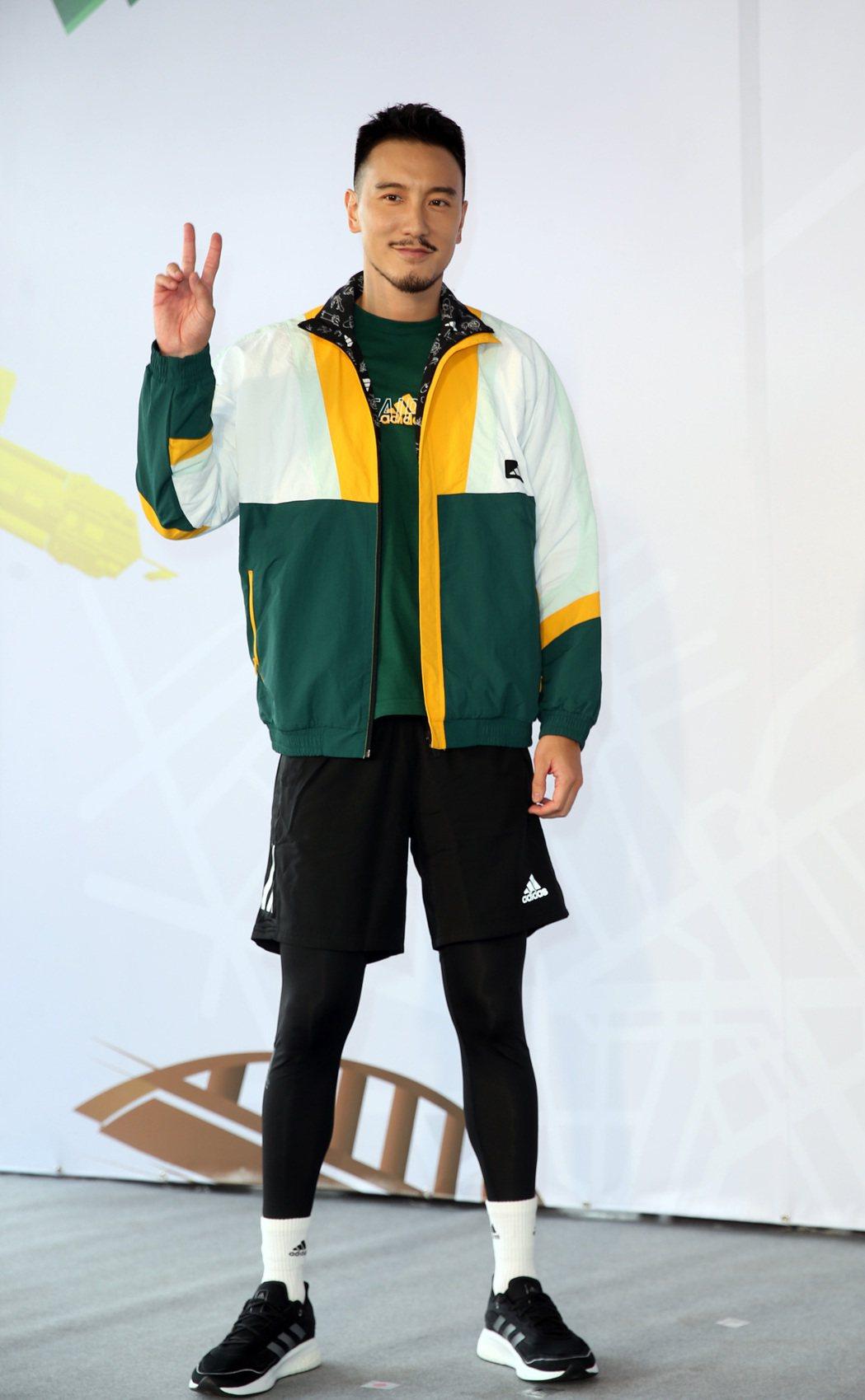 王陽明出席 adidas 跑翻台北城市Online Run記者會。記者曾吉松/攝...