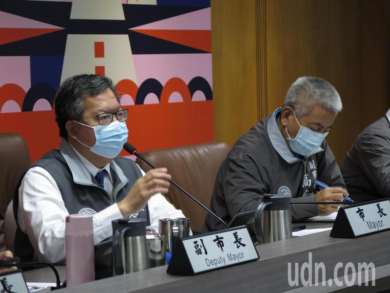 市長鄭文燦今天要求相關局處加強宣導戴口罩,提醒民眾配合防疫。記者張裕珍/攝影