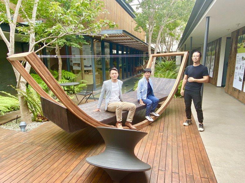 展覽還特別設計一個木構教具,未來將移展至周邊學校作為教學啟發用。記者宋健生/攝影