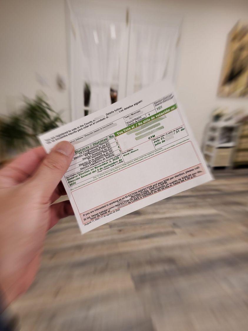 移民美國十多年的黃鷹勳投下總統大選票。圖/摘自臉書