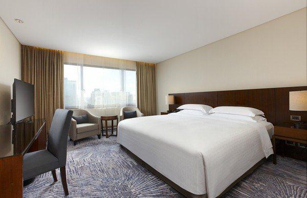 五星級喜來登飯店的住房空間豪華寬敞。 圖/台北喜來登飯店官網