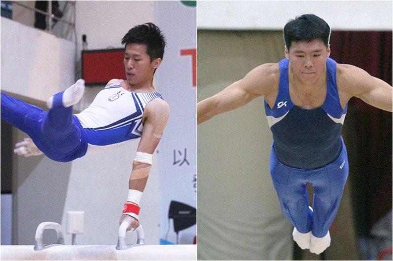 目前代理體操總教練的林育信表示,選手必須往外送,國際賽才能提升李智凱(左)和唐嘉鴻(右)知名度。 記者劉學聖/攝影