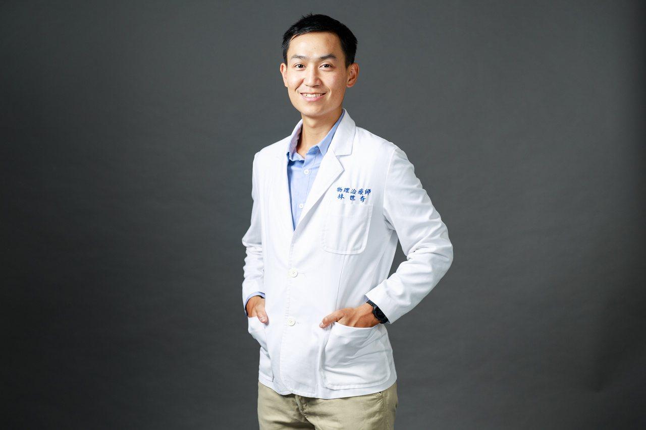 物理治療師林世奇,從馬拉松學習人生價值。  圖/陳軍杉 攝影