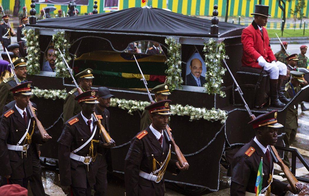2012年,梅萊斯.澤納維(Meles Zenawi)的葬禮。 圖/美聯社