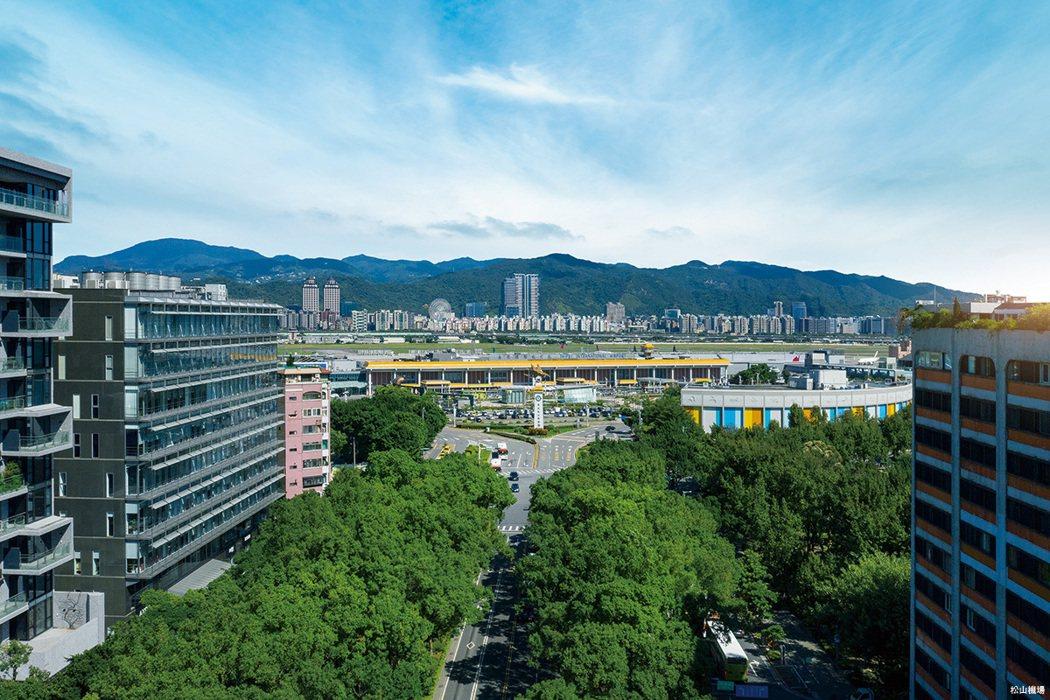 台北松山機場,航點橫跨亞太商務一級城市。 圖/海悅廣告股份有限公司提供