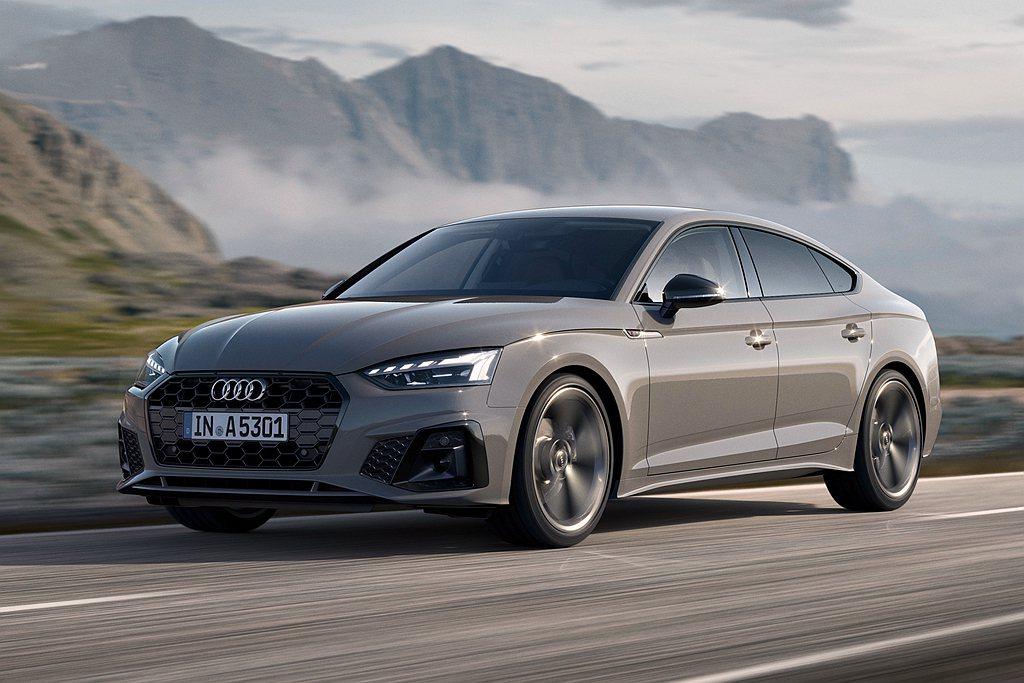 台灣奧迪推出2021年式Audi A5 Sportback,全車系標配12V輕型...