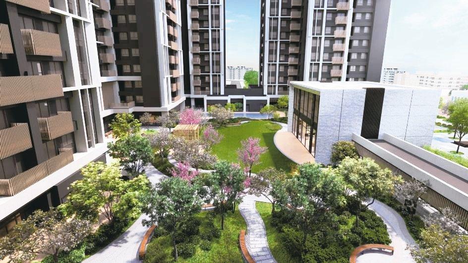 「遠雄北府苑」大方留設800坪私家中庭花園與多元豐富的公設項目。 遠雄/提供