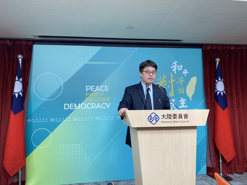 陸委會發言人邱垂正。聯合報系記者呂佳蓉/攝影
