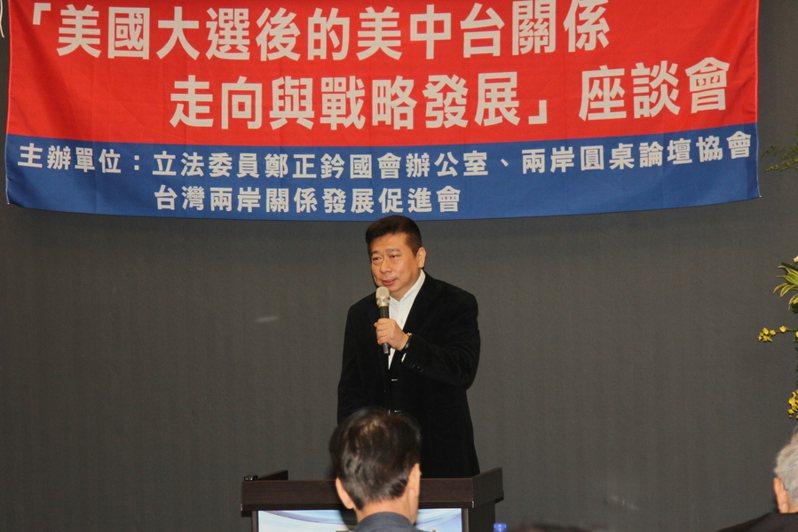 兩岸圓桌論壇協會理事長張顯耀認為,選後台灣地緣政治角色愈發重要,但我方沒有單邊押寶美國哪一黨的籌碼。(photo by 祝潤霖/台灣醒報)
