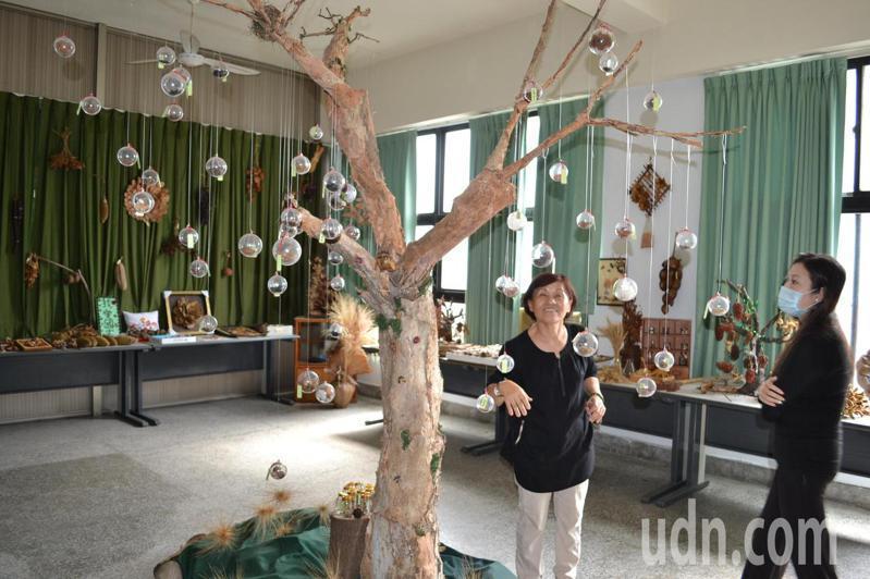台南市國宅社區以種子為特色,打造環保小學堂。記者鄭惠仁/攝影